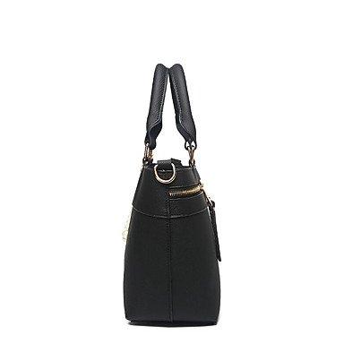 Damenmode PU Leder Messenger Umhängetaschen/Handtasche Tote Khaki