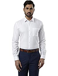 Raymond White Slim Fit Cotton Shirt