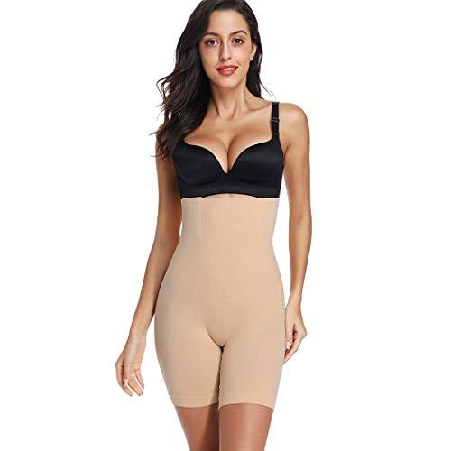eujiancai Tummy Control Thigh Slimmer Body Shaper for Women High Waist Knickers Slimming Butt Lifter Boyshorts Pants Seamless Shapewear Underwear (Beige 2) -