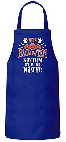 ShirtStreet Grusel Gruppen Frauen Herren Barbecue Baumwoll Grillschürze Kochschürze Mein Halloween Kostüm ist in der Wäsche 2, Größe: onesize,Royal Blau (2 Von Gruppen Halloween-kostüme)