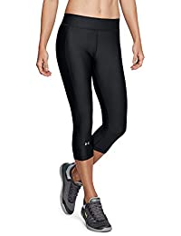 069fd66b8ad651 Under Armour Damen HeatGear Armour Capri Sporthose, atmungsaktive Leggings,  superleichte Sport Leggings mit Kompressionspassform