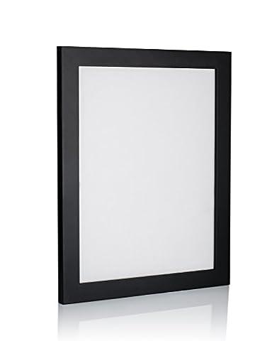 färberröten Range weiß Bilderrahmen, Größen in Zoll * für Zuhause und Büro * größte Größe Auswahl., acryl, Schwarz (1 Stück), 12x12 (12 Stück Schwarze Acryl)