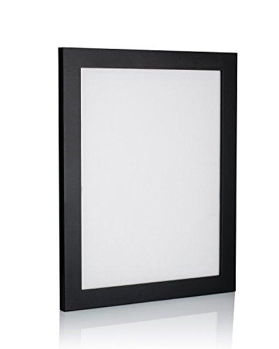 weiß Bilderrahmen, Größen in Zoll * für Zuhause und Büro * größte Größe Auswahl., acryl, Schwarz (1 Stück), 18x24 in ()