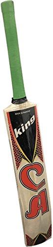 CA - Mazza da cricket modello King, misura standard da adulti, per cricket da strada con palline tape ball