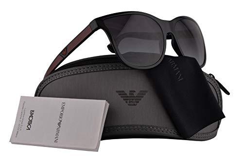 Emporio Armani Frau EA4112 Sonnenbrille w/Grau Gradient Lens 57mm 50178G EA 4112 Schwarz groß