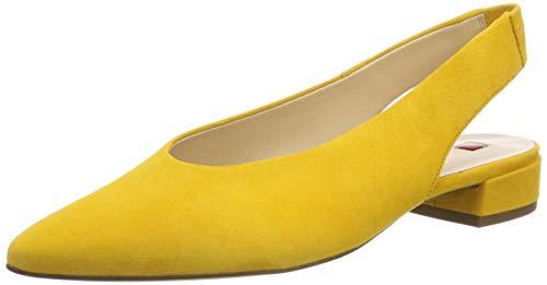 HÖGL Damen Easy Slingback Ballerinas, Gelb (Yellow 81, 39 EU - Suede Slingback Schuhe