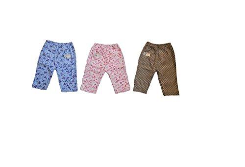 Bubbles Leggings Pajamas For Kids , Set Of 3 (3-6 Months)