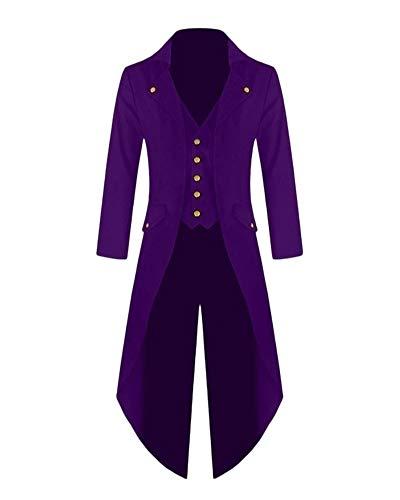 ZhuiKunA Damen Plus Größe Steampunk Vintage Gothic Smoking,Uniform -