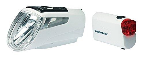 Trelock Batterie Beleuchtungsset LS 460 720 Weiß, White, 10 x 5 x 3 cm