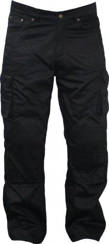 Motorradhose Kevlar Jeans kevlarjeans hose mit Protektoren schwarz 280g/m2, Jeansgröße:34W/34L