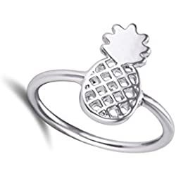 Oro/Plata/Oro rosa Color piña anillo, joyería de piña, piña anillo, anillo de frutas