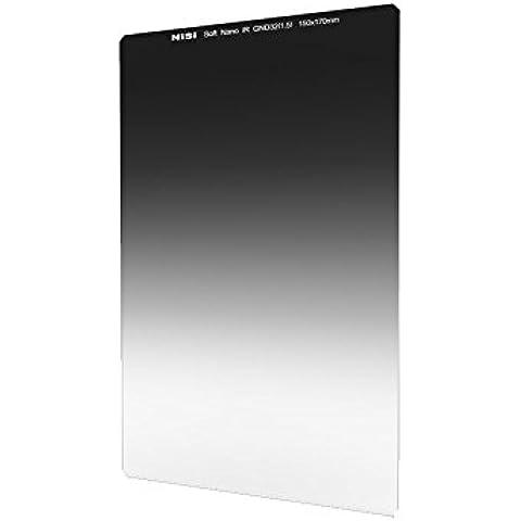 NiSi 150X170mm IR Revestimiento vidrio óptico Filtro Nano Multi Capa IR Graduado de densidad neutra 1,5 Soft filtro de borde (5-Stops) para lente gran