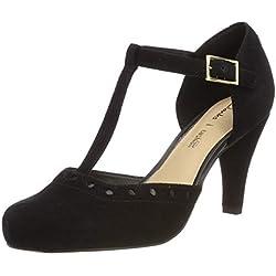 Clarks Dalia Leah, Zapatos de Tacón para Mujer, Negro (Black Suede-), 40 EU
