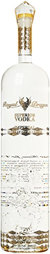 Royal Dragon Superior Wodka Imperial - mit 23 Karat Blattgold Jeroboam (1 x 3 l) (Imperial Dragon)