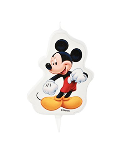 Generique - Vela de cumpleaños Mickey 7 x 8.5 cm