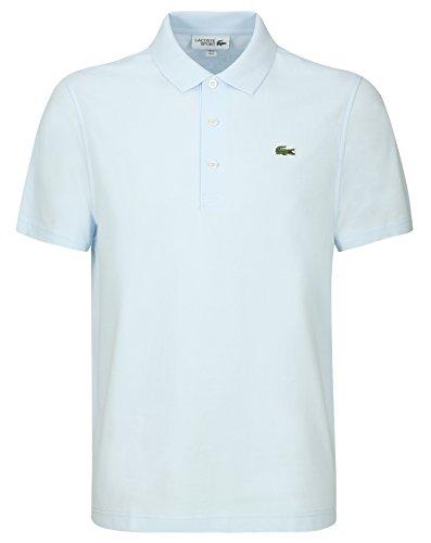 Lacoste L1230 Herren Poloshirt L1230, Polohemd, Polo-Shirt, Polo, Regular Fit, Kurzarm Aus 100% Leichter Baumwolle Blau (Rill T01), EU 3