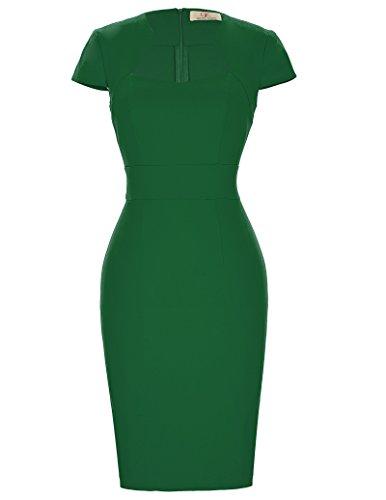 GRACE KARIN Retro Dress - Robe - Femme - Vert - XL