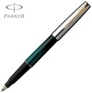 Parker frontier & Vert effet marbre Noir Stylo roller avec accents dorés
