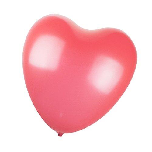 Preisvergleich Produktbild Herz Ballons Luftballons Latexballons, 33cm, für Hochzeit Partei Geburtstag Dekor - Rosa