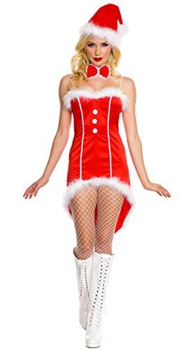 MAIMOMO Fun-Unterwäsche Weihnachtskostüm Sexy Halloween Kostüm Weihnachten Unterwäsche Cute Bunny Weihnachtsfeier Party, Rot, Einheitsgröße (Cute Halloween-kostüm Bunny)