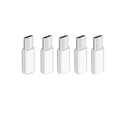 Type-C Male to Micro USB Female Converter USB-C Adapter (5 PCS) ()