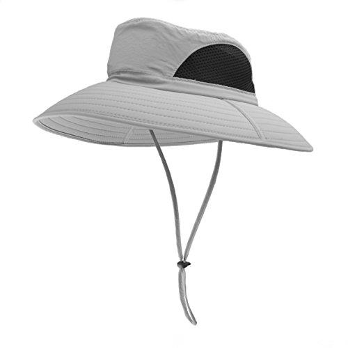 EINSKEY Sombrero Hombre Verano Sombrero Pescador de ala Ancha Plegable y  Impermeable. cf29e9ef2e8