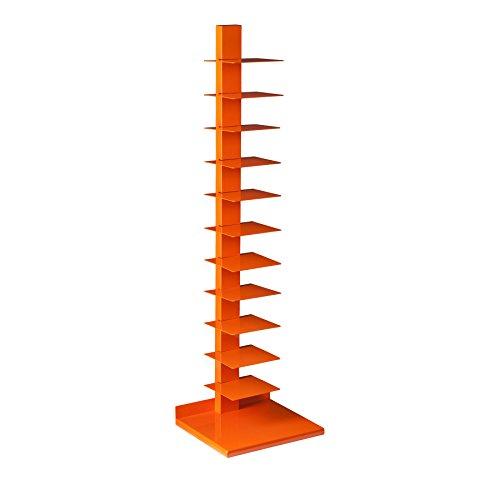 Southern Enterprises - Porta CD/libri a torre, verticale, colonnare, colore: arancione