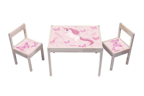 """""""Einhorn"""" Aufkleber - KA01 - (Möbel nicht inklusive) - Möbelsticker passend für die Kindersitzgruppe LÄTT von IKEA"""