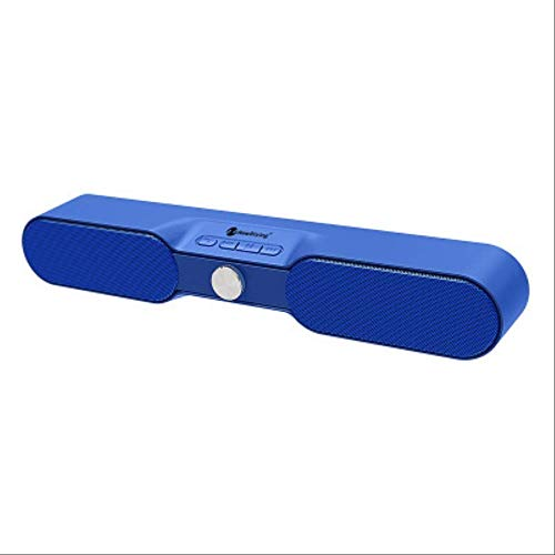 SZSM Bluetooth-Lautsprecher Drahtloser Bluetooth-Echo-Wandlautsprecher für den Außenbereich, Home Long-Strip Edgy High-Power Audio   Blau
