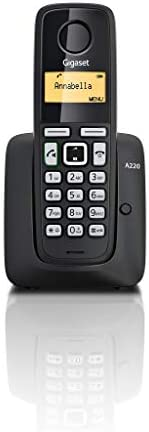 Gigaset A220 Cordless Phone with 18 Hrs Talk Time, 200 Hrs Standby, 50M Indoor & 300M Outdoor Range, Speak