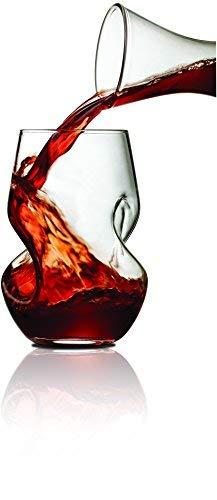 BrilliantTourbillon Weingläser zum Dekantieren, verdrehte Form, 250ml 2 Stück Full-dekanter