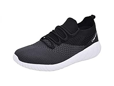 5bc7b2cdb73d calcetto Mens Grey Black Nylon Mesh Sport Shoes 11UK  Buy Online at ...