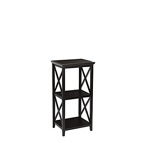 RiverRidge Home X-Frame 3-Shelf Storage Tower, Espresso by RiverRidge Home Products