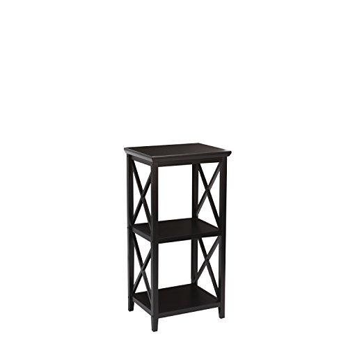 RiverRidge Home X-Frame 3-Shelf Storage Tower, Espresso by RiverRidge Home Products (Espresso-storage-tower)