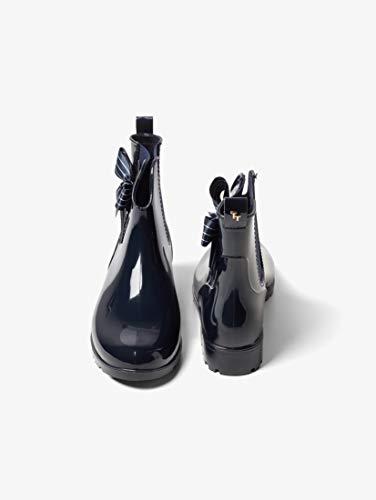 TOM TAILOR für Frauen Schuhe Kurze Gummistiefel mit Schleife Navy, 40