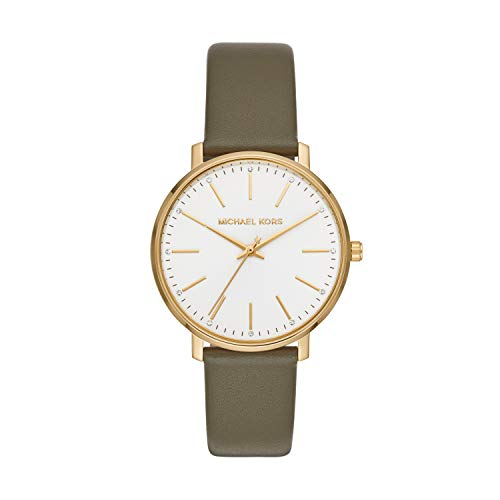Michael Kors Damen Analog Quarz Uhr mit Leder Armband MK2831
