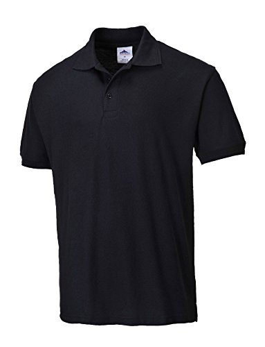 PORTWEST B210 - Polo-Shirt Naples, schwarz, 5XL, B210BKR5XL (Shirt Knit Pique)