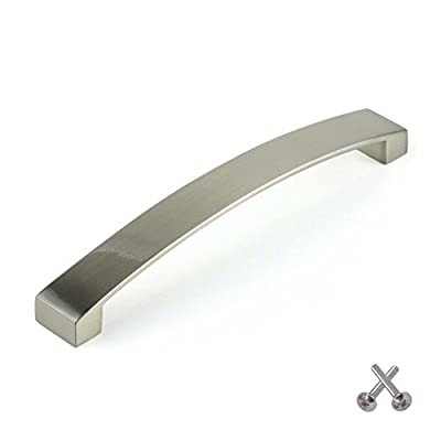 M Bar Kitchen Cabinet Door Handle, Cupboard Drawer Bedroom furniture handles, Brushed Steel - cheap UK light shop.