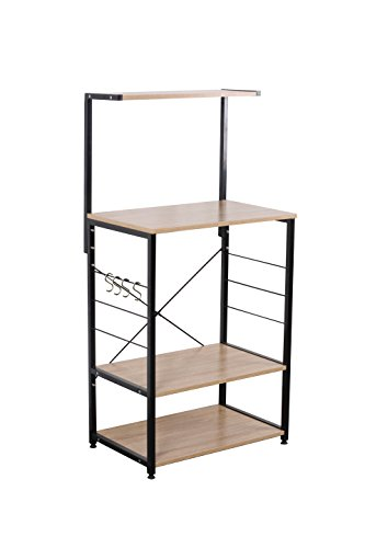 "Uniware Professional Wooden Kitchen Shelf/Baker Rack 4 Tier Shelves (23.62""L x 15.75""W x 48.43""H)"