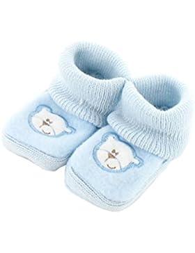 1914d7ae6 zapatitos de bebé 0-3 meses Azul - Patrón Papá Oso