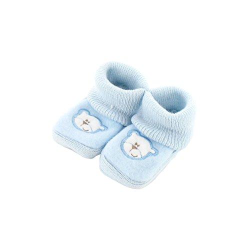 Chaussons pour bébé 0 à 3 Mois bleu - Motif Papa Ours