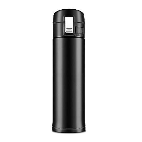 Newdora 500ML Edelstahl doppelwandiger Vakuum-isolierter Thermokanne Reise Büro Tee Kaffee Tasse Becher Flasche Isolierflasche Thermokanne (Tag Baby, Kleidung, Vater)