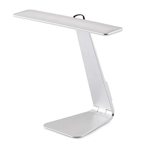 SUAVER USB LED Tischleuchten, Style to Match Macbook, Ultra 5mm dünne Tischlampe, 28 LED Licht mit 3 Helligkeitsstufen, Augenschutz Schreibtischlampe und Touch-Sensitive Control Lampen lesen (Silber)