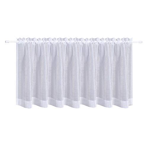 Happy home - tenda a pannello bea, 140 x 50 cm, semitrasparente, colore: bianco
