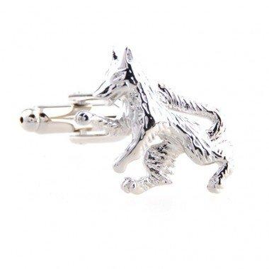 Silver Wolf Nouveauté boîte-cadeau Boutons de manchette Boutons de manchette mariage pour Groom cadeau parfait