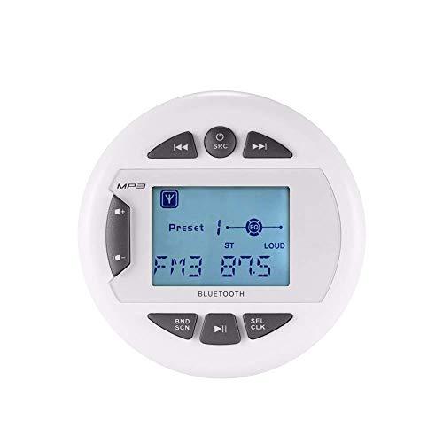 Herdio Wasserdichter Marine Messgerät Stereo Empfänger Bluetooth Digital Media MP3 Player mit Audio Streaming, FM AM Radio für Boot, ATV, UTV, SPA