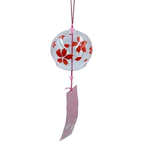 Sharplace Japanischer Stil Glas Windspiel Klangspiel Fengshui Dekor, Rosa