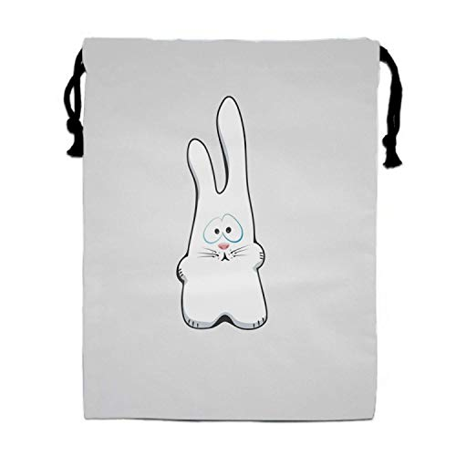 Einst Bunny Drawing Sad Turnbeutel Bag/Shoes Underwear Makeup Laundry Storage Pouch Bags Organizers 15.75 x 11.8 (Bunny Make-up Ideen Halloween)