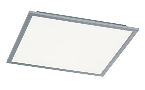 WOFI Deckenleuchte, Aluminium, Integriert, 24 W, Silber, 40 x 40 cm