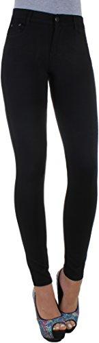 BD-High-Waist-Damen-Super-Stretch-Hose-Jeggings-Rhrenhose-in-schwarz